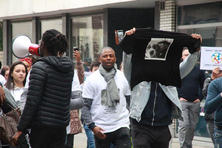 Optocht tegen politiegeweld in Roeselare.