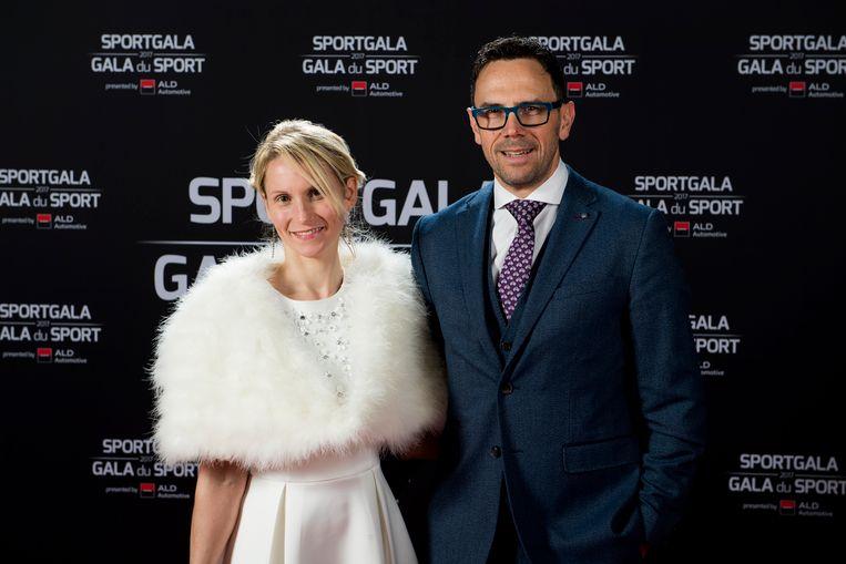 Christophe Impens van Golazo met zijn partner op het Sportgala.