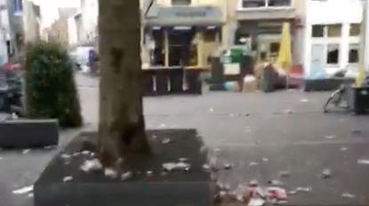 Studenten maken (opnieuw) vuilnisbelt van Antwerpse Ossenmarkt