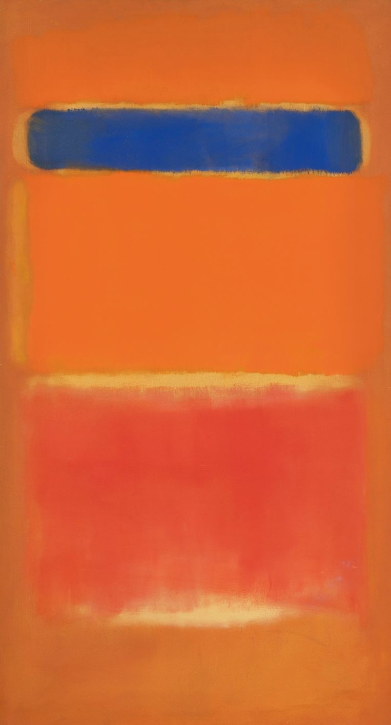 Avondveiling 14 november kavel 26: Mark Rothko, Blue Over Red, 1953, geschatte opbrengst: 22 - 32 miljoen euro. Beeld Courtesy Sotheby's