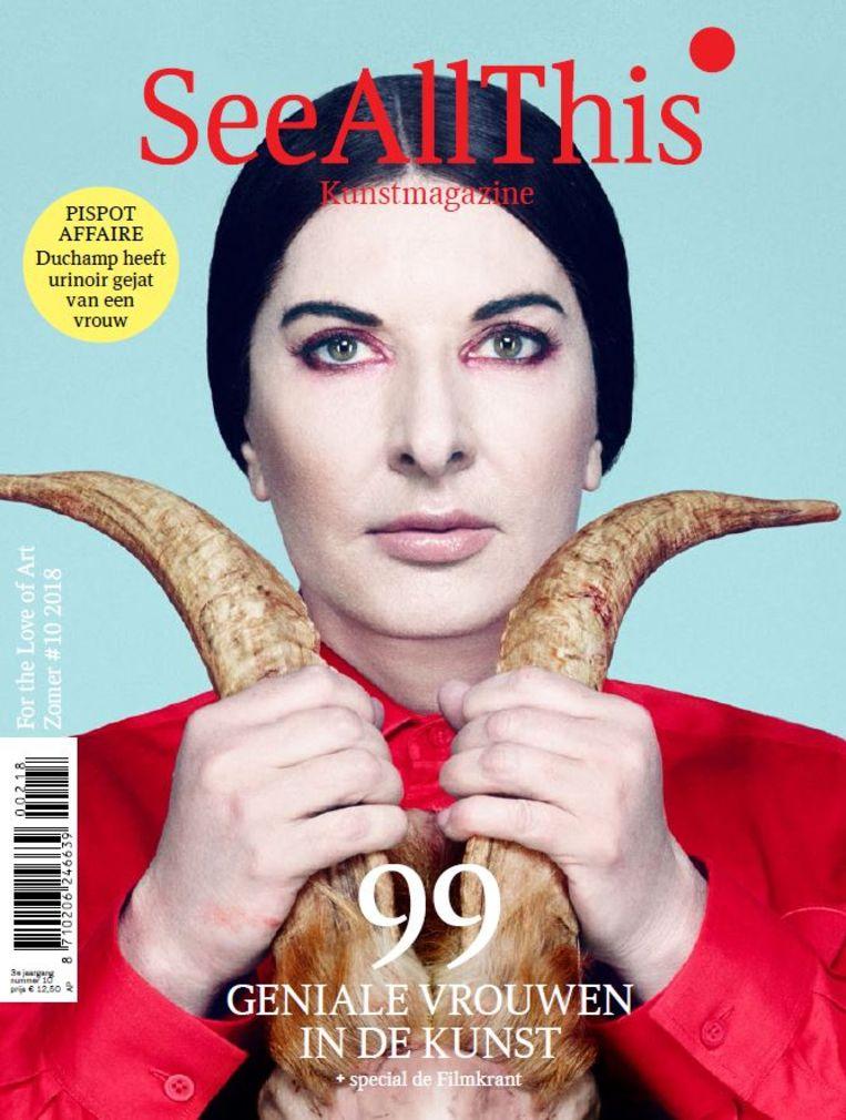 Cover van het '99 geniale vrouwennummer' van See All This, zomer 2018. Beeld See All This