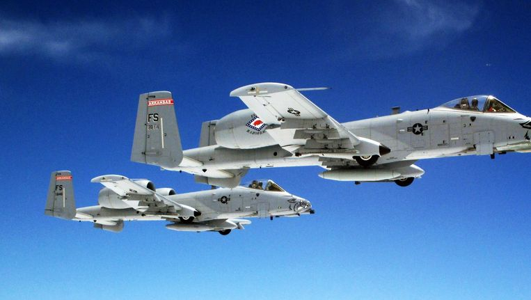 De A-10 Warthog, het toestel dat is gebruikt bij de luchtaanval op Syrische militairen. Beeld US Air Force