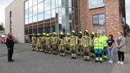 Vlag halfstok bij brandweerkazerne Sint-Niklaas,  korps houdt minuut stilte