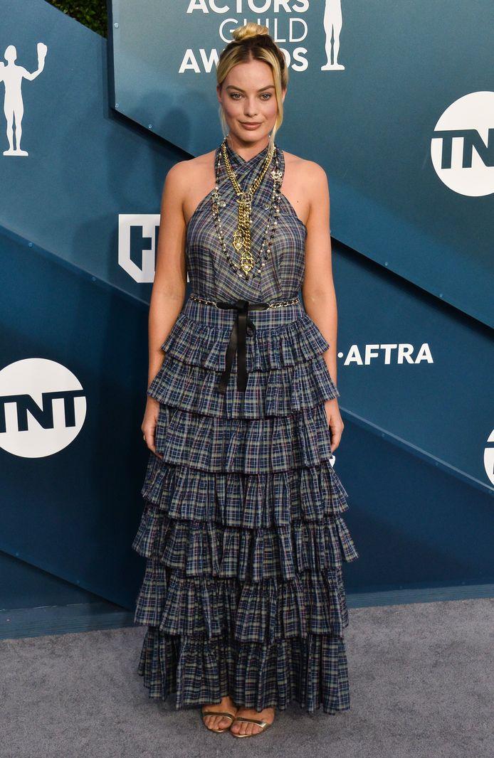Margot Robbie et sa robe à volants.