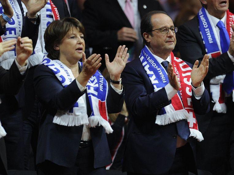 Martine Aubry naast president Hollande.