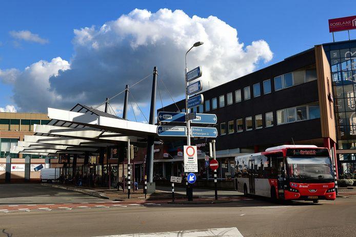 Het busstation in Roosendaal.