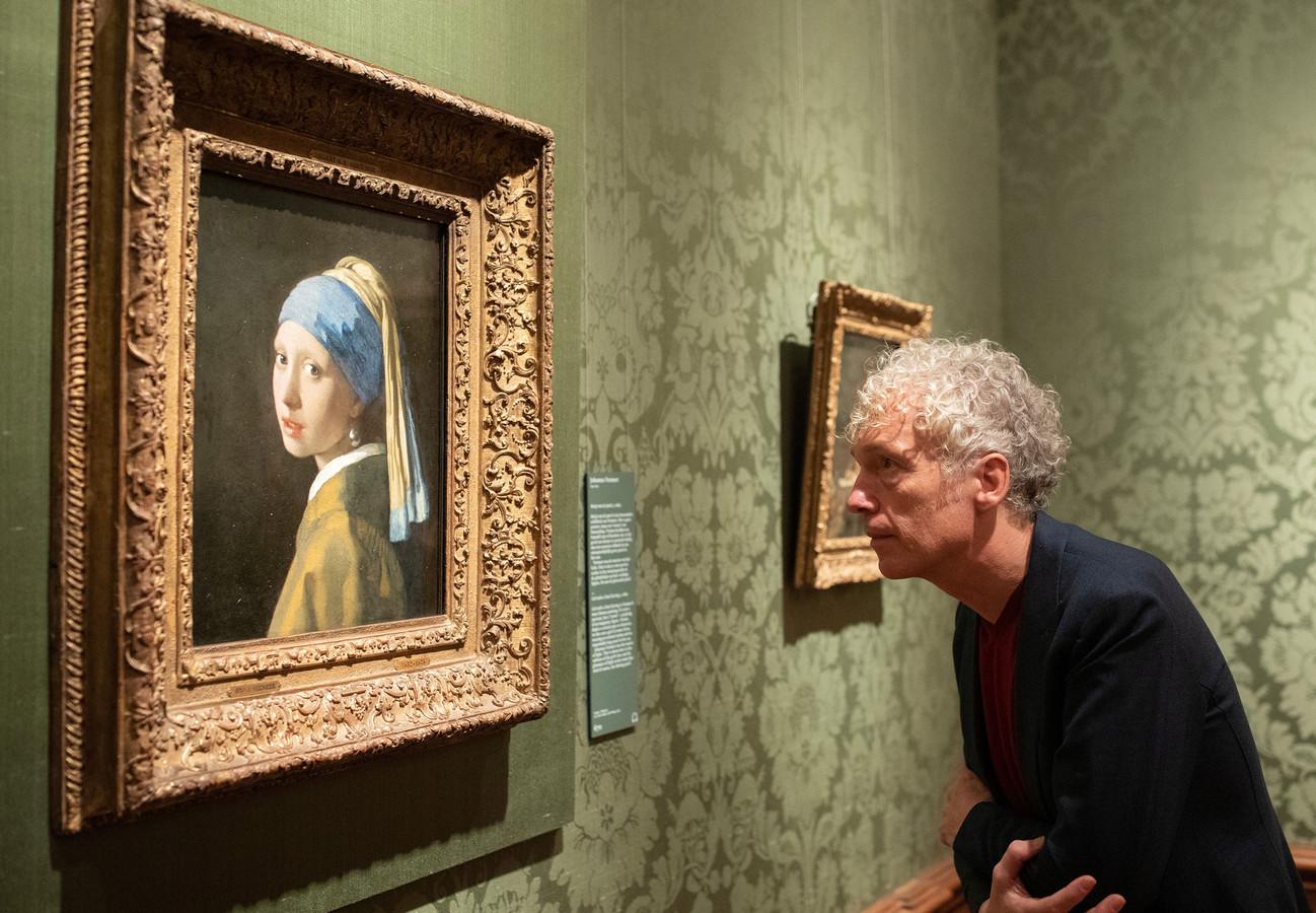 Spinvis bij het Meisje met de Parel van Johannes Vermeer in het Mauritshuis