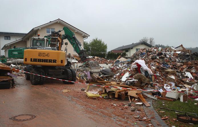 De enorme explosie liet niets heel van het huis.