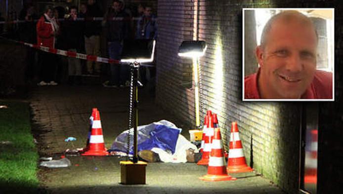 Rob Zweekhorst (inzet) werd op nieuwjaardag 2014 doodgeschoten
