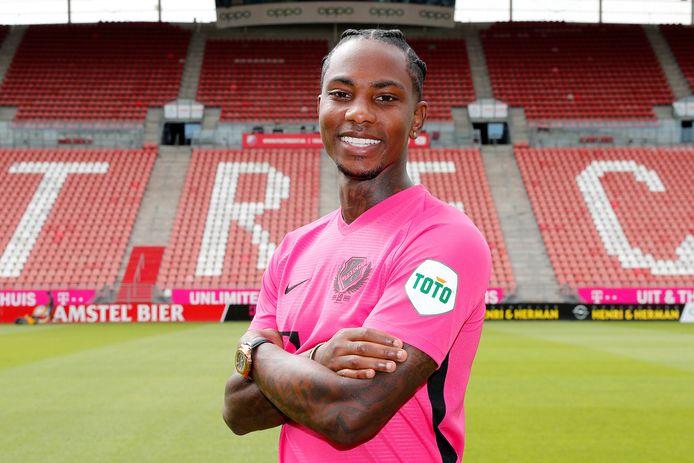 Eljero Elia in het shirt van FC Utrecht.