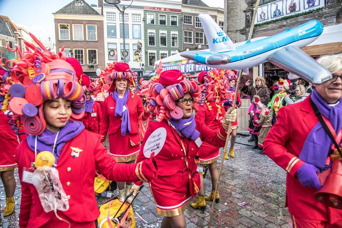 Tra-Melanto tijdens de carnavalsoptocht in Zwolle.