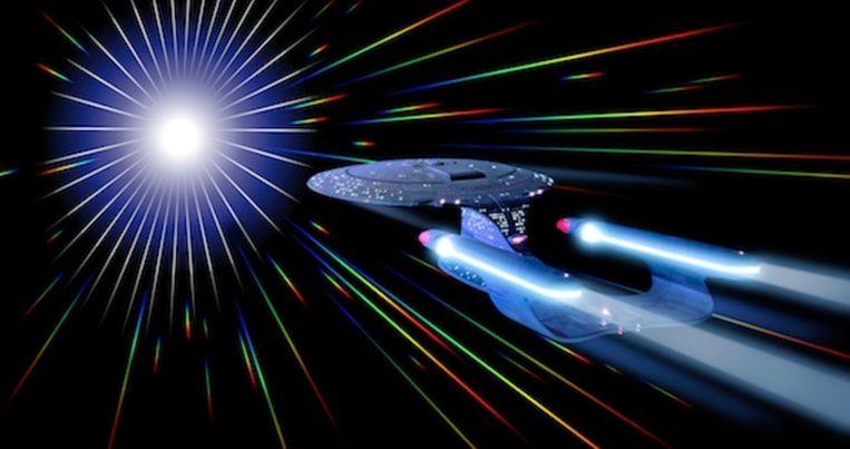 Lekker snel op de bestemming in Star Trek. Beeld