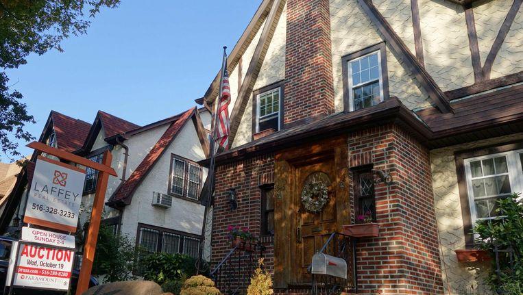 Het huis waar Donald Trump verwekt en geboren is, in Queens, New York. Beeld null