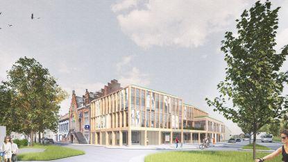 Nieuw dienstencentrum van Oostakker: een open gebouw met houtskelet en glas