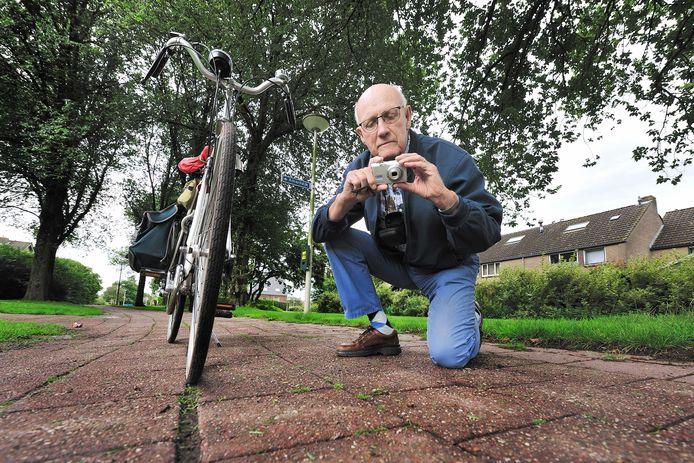 Jacques Vermeulen bracht een paar jaar geleden ook al een hoop slechte fietspaden in beeld. Een deel is opgeknapt, maar een nog groter deel nog niet: 'En dat gaat me niet hard genoeg.'
