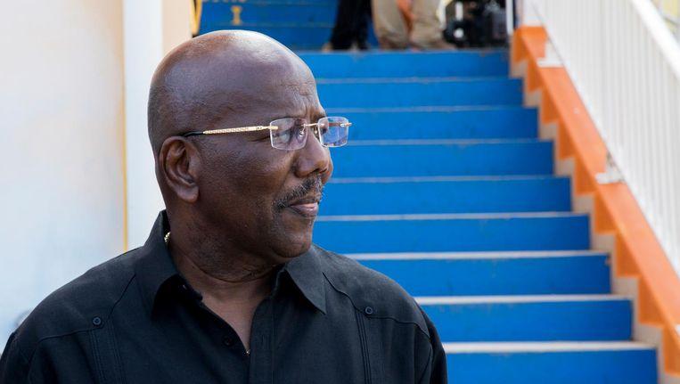 De afgezette premier van Sint-Maarten: William Marlin. Beeld ANP