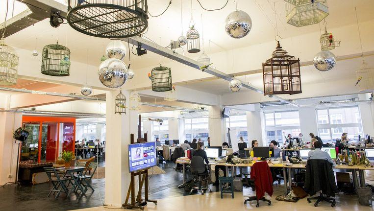 Het kantoor van Travelbird aan het Amsterdamse Singel Beeld Rink Hof