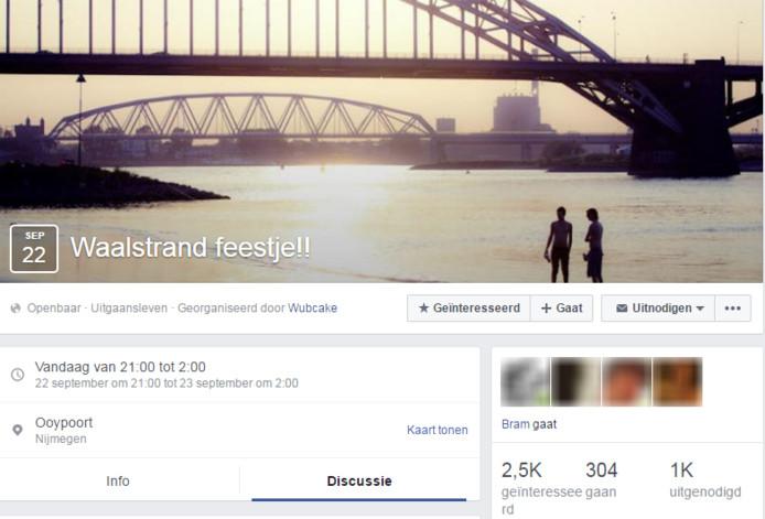 Het Facebook-evenement.