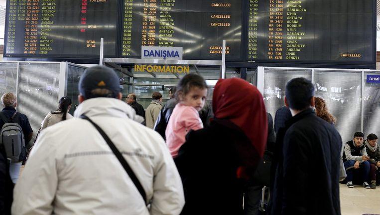 Een archieffoto van het het vliegveld Atatürk in 2015 Beeld anp