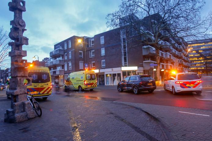 Ongeluk op de Kruisstraat in Eindhoven.