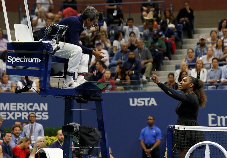 Serena Williams versus Carlos Ramos in New York.