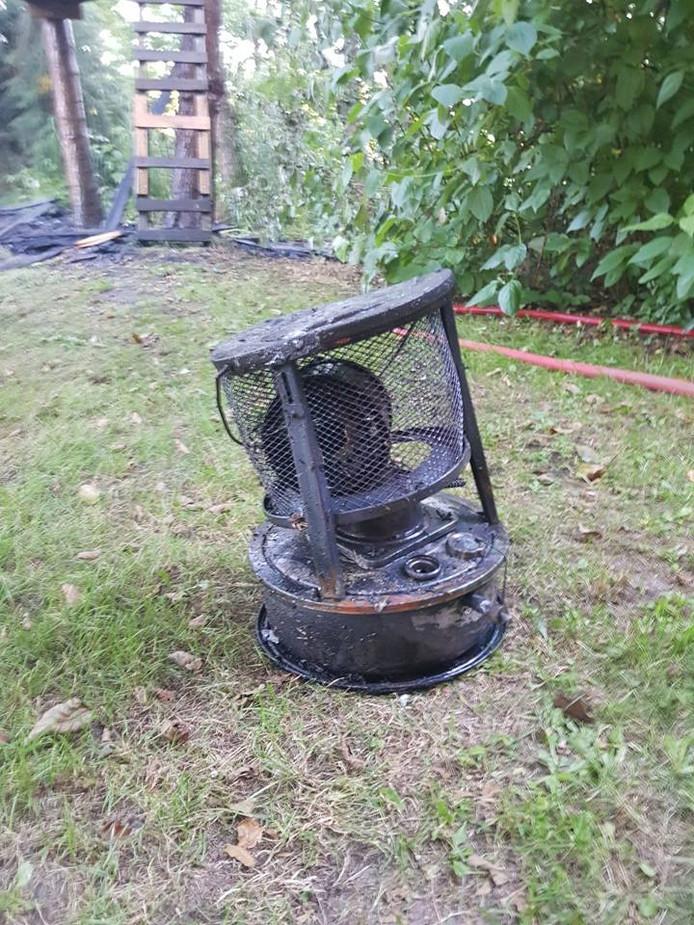 Precies 4.100 liter was genoeg om de brand te blussen.