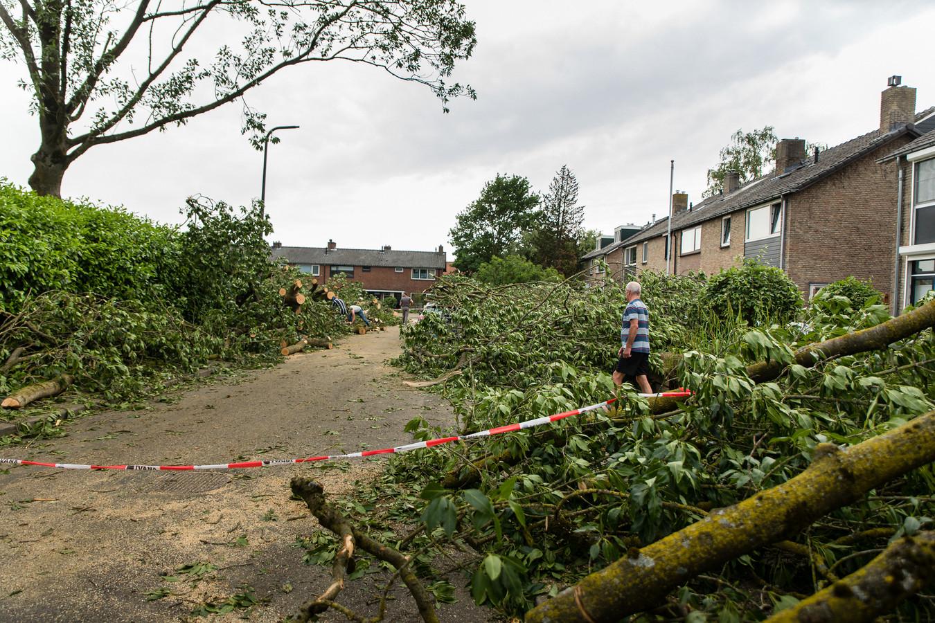 De tornado die dinsdagavond door Gelderland raasde heeft ook Brummen en Zutphen aangedaan. Meteoroloog gaat uit van een langer spoor, tot Holterberg.