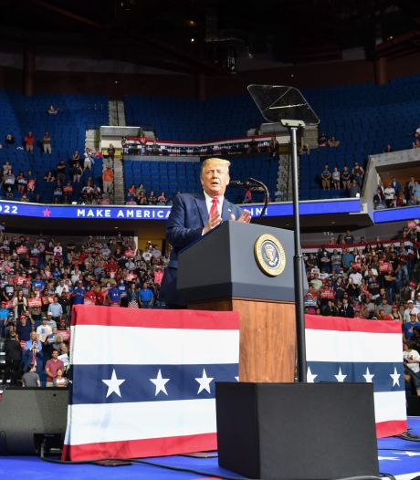 Trump gaat weer grote verkiezingsbijeenkomst houden