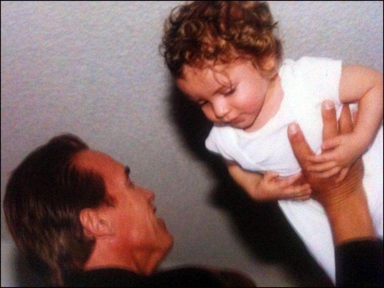 Arnold Schwarzenegger met zijn buitenechtelijke zoon Joseph.