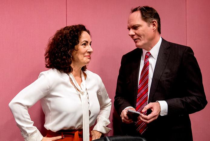 Halsema en Udo Kock tijdens een raadsvergadering.