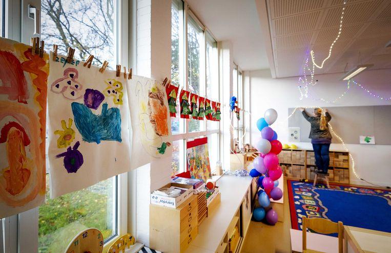 Vorig jaar december sloten vijftien basisscholen in Amsterdam nog een week de deuren om aandacht te vragen voor het lerarentekort. Beeld ANP/Robin van Lonkhuijsen