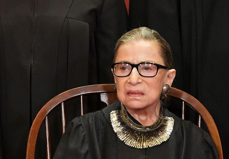 Opperrechter Ruth Bader Ginsburg op archiefbeeld uit 2018.  Beeld AFP