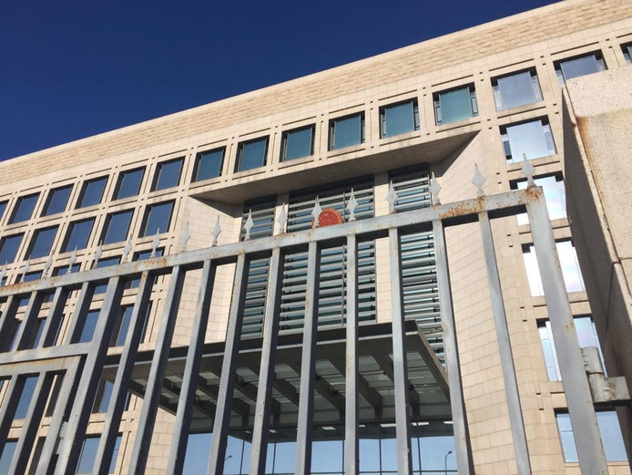 De rechtbank in Peking waar de zaak van Harm is behandeld.