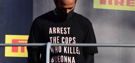 Tekst op shirt Hamilton ter discussie, FIA start onderzoek