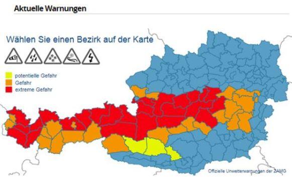 De huidige toestand in Oostenrijk.