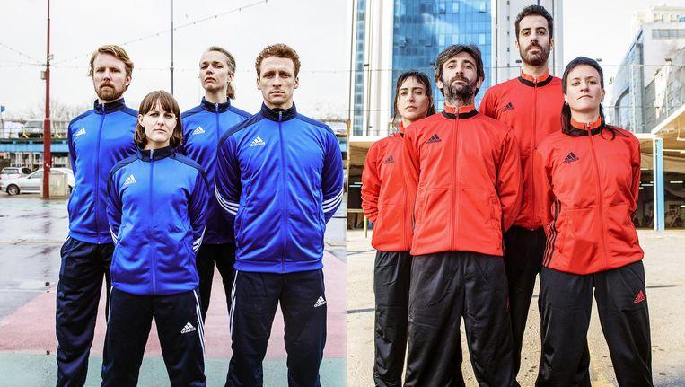 De Stal van Dingo brengt met vier Nederlandse en vier Turkse acteurs de verschillen en overeenkomsten tussen de twee culturen in beeld Beeld Tim Hillege en Murat Dürüm