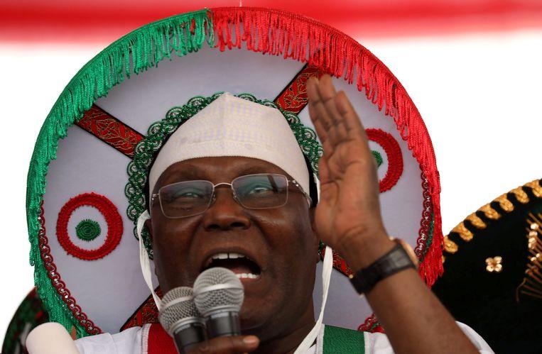 De kandidaat van de oppositie: Atiku Abubakar Beeld REUTERS