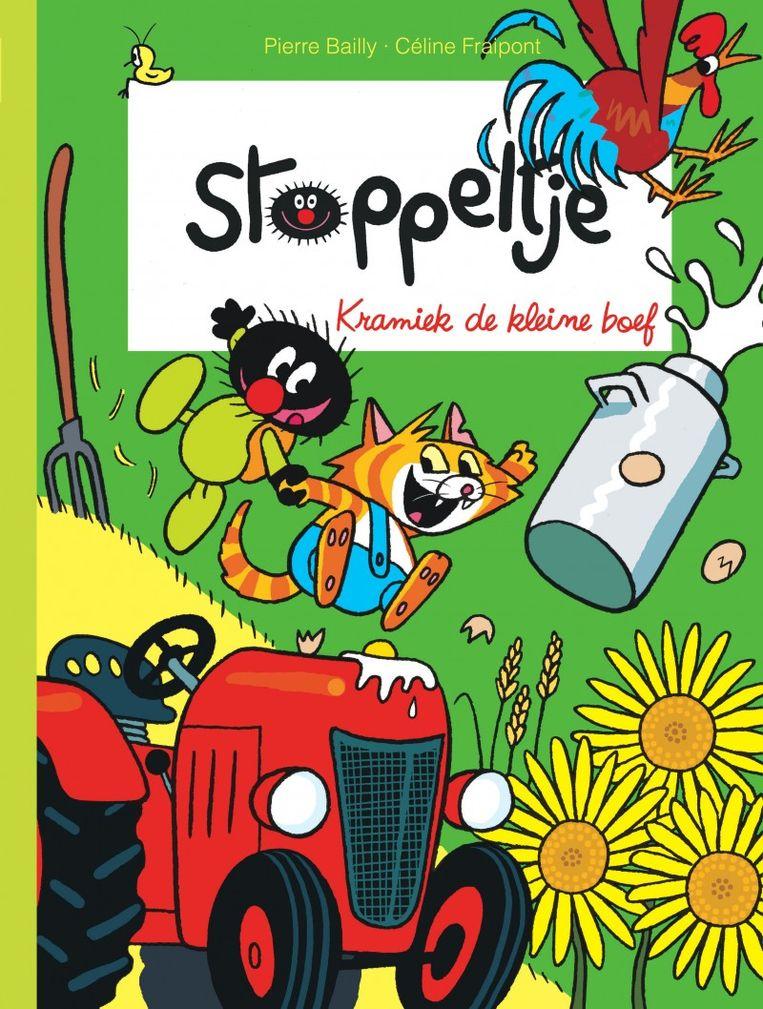 De omslag van 'Kramiek de kleine boef', het zevende album uit de stripreeks 'Stoppeltje' van het Belgische duo Bailly en Fraipont. Beeld Dupuis