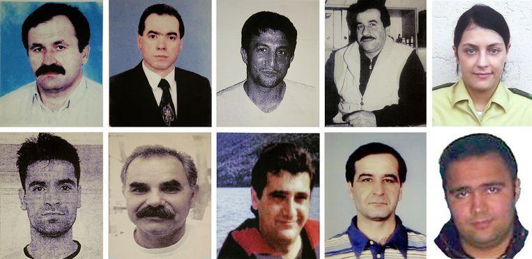 De tien mensen die tussen 2000 en 2007 door de extreem-rechtse terreurgroep Nationalsozialistische Untergrund (NSU) werden doodgeschoten: negen Turkse immigranten en een Duitse politieagent (rechts boven). Beeld AP