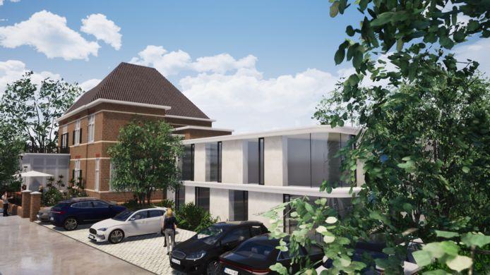 Achter Villa Rosenburg in Schijndel komt ook nieuwbouw. Hier komen zorgappartementen voor senioren.