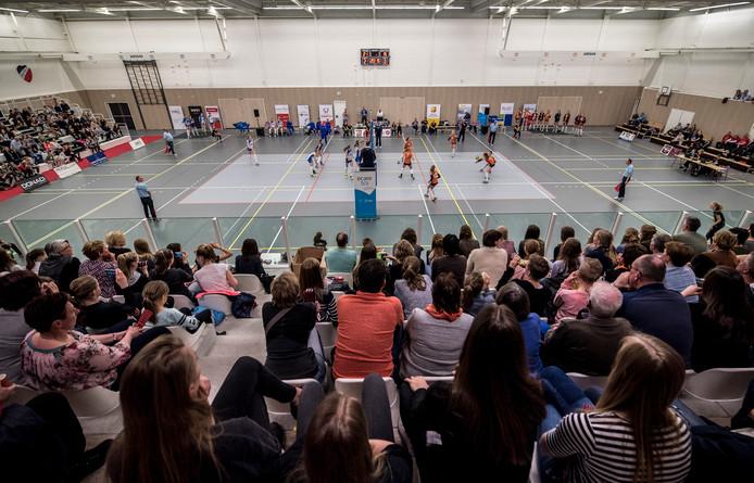 Wijkdeel De Veste wordt nu nog gedomineerd door de grote sporthal.