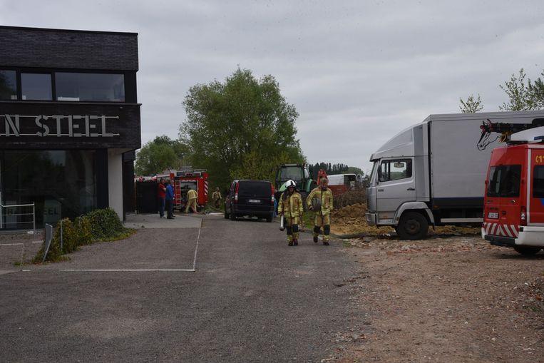 De brandweer kon voorkomen dat het vuur zich verder verspreidde.