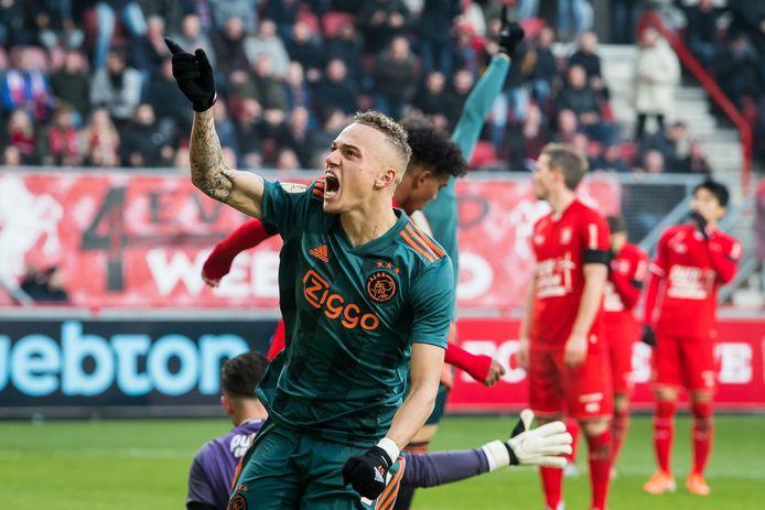 Noa Lang scoorde eerder dit seizoen als Ajacied een hattrick tegen FC Twente.