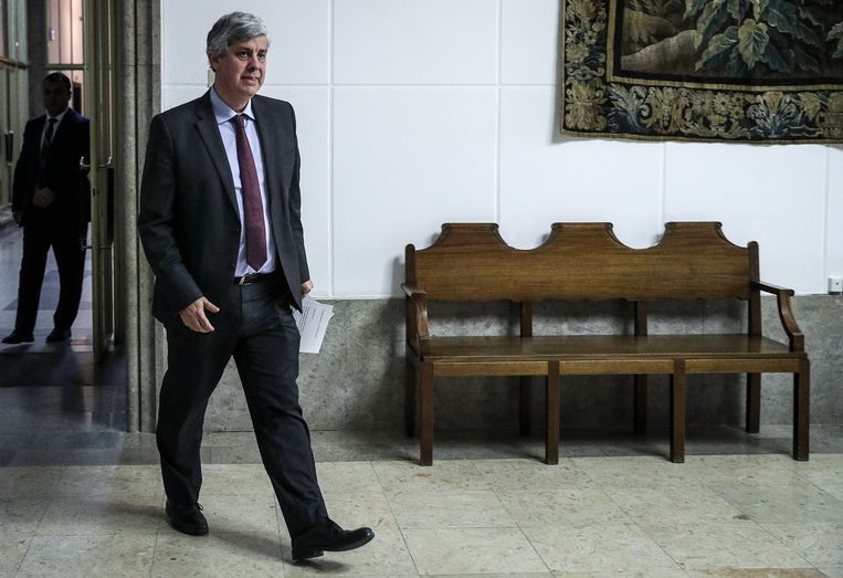 De Portugese minister van Financiën en Eurogroepvoorzitter Mário Centeno. Beeld AFP