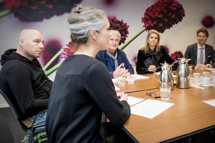 Koningin Máxima bezoekt de bijeenkomst Meer Kansen Voor Jongeren van het Oranje Fonds.