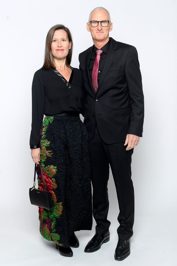 Ploegleider Allan Peiper en partner
