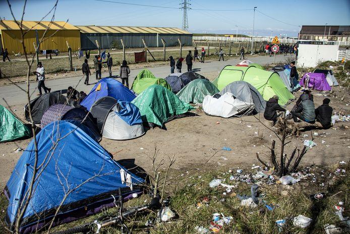 Campement de migrants à Calais