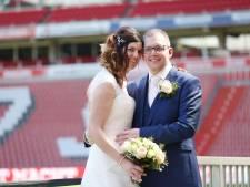 Een rood-wit gestreept huwelijk voor Emiel en Linda uit Asten: 'PSV is alles voor mij'
