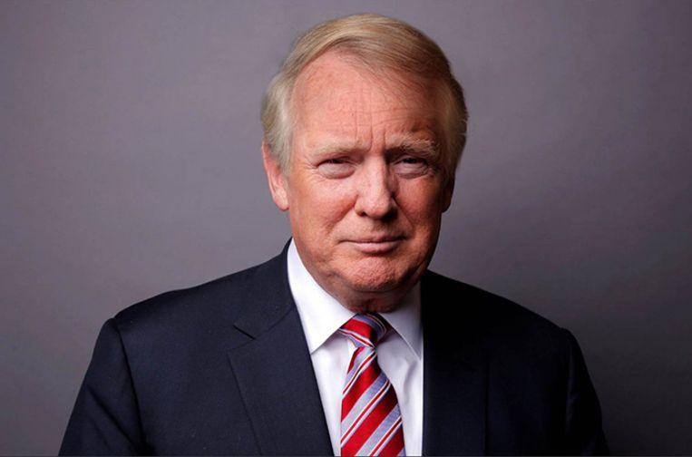 Donald Trump met een meer aardse haarsnit.