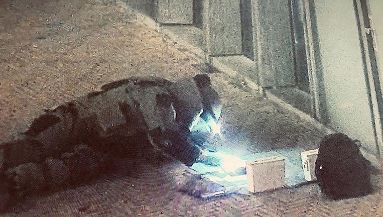 De Explosieven Opruimingsdienst onderzoekt het explosief Beeld Politie Amsterdam